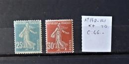 12 - 19 //  France - N° 140 Et 141 **  - MNH - Semeuses   - Cote : 46 Euros - Ungebraucht