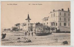 Cros De Cagnes. La Plage + Eglise + Bateau De Peche + Animée - Cagnes-sur-Mer