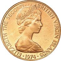 Monnaie, BRITISH VIRGIN ISLANDS, Elizabeth II, Cent, 1974, Franklin Mint - Islas Vírgenes Británicas
