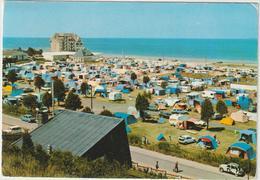 Manche : DONVILLE  Les    BAINS  : Le  Camping  , Mer, Caravane,  2  Chevaux  Citroën... - France