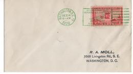 (R8) SCOTT 649 - AERONAUTICS CONFERENCE ISSUE - WRIGHT AIRPLANE - WASHINGTON D.C. - 1928 - GREEN CANCELLATION. - Schmuck-FDC