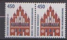 BRD,  1992, Sehenswürdigkeiten (XII) Mi. Nr. 1623**,   Waagerechtes Paar - Nuovi