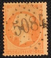 Timbre De France Classique N°23 Obl GC 5084 Dardanelles - 1862 Napoleon III