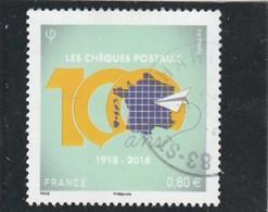 FRANCE 2018 CHEQUES POSTAUX 100 ANS OBLITERE YT 5274 - Frankreich