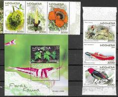 INDONESIA, 2019, MNH, FLORA AND FAUNA, FISH, BIRDS, RODENTS, SHRIMPS, RAFFLESIA, PLANTS,6v+S/SHEET - Poissons