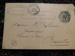 Entier Postal Belge 1889, Cachet ANVERS PALAIS, Cooppal & Cie   (i8) - Postcards [1871-09]