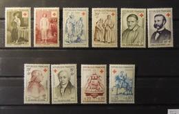 12 - 19 //  France - Croix Rouge - Année 1955 - 56 - 57 - 58 - 59 ** - MNH - France
