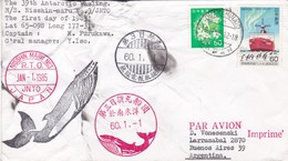 JAPAN - THE 39th ANTARCTIC WHALING, NISSHIN-MARU JNTO. IN 1985. CIRCULATED ENVELOPE PAR AVION TO ARGENTINA -LILHU - Covers & Documents
