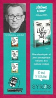 Marque Page Syros.   Jérôme Leroy.   Bookmark. - Bladwijzers