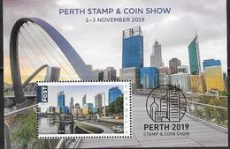 AUSTRALIA, 2019, MNH, PERTH STAMP EXHIBITION, ARCHITECTURE, BRIDGES, S/SHEET - Ponts