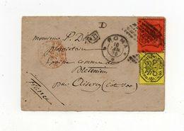 !!! PRIX FIXE : ITALIE, ETATS PONTIFICAUX, LETTRE DE ROME POUR LA FRANCE DE 1870 - Stato Pontificio