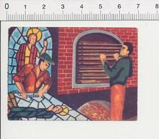 La Fabrication Des Vitraux / Vitrail D'église IM87/4 - Old Paper