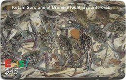 Brunei - DstCom - Easi - Ketam Suri Crabs, Prepaid 45$, Used - Brunei