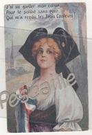 ALSACE - CP J'AI SU GARDER MON COEUR POUR LE SOLDAT SANS PEUR QUI M'A RENDU LES TROIS COULEURS ! - Weltkrieg 1914-18