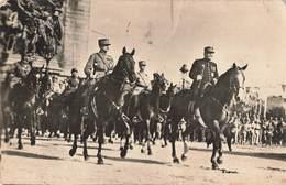 Militaire Guerre 1914 1918 Cpa Carte Photo Fetes De La Victoire 14 Juillet 1919 Marechal Foch Joffre - War 1914-18