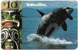 Canada - WesTel - Orca Whale, Remote Mem. 10$, Exp. 31.12.2000, Used - Kanada