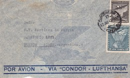 """CHILE - CIRCULATED ENVELOPE FROM CONCEPCION TO BUENOS AIRES, ARGENTINA. IN 1942, AIR MAIL VIA """"CONDOR-LUFTHANSA"""" -LILHU - Chile"""