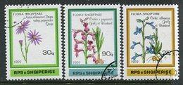 ALBANIA 1989 Flowering Plants Used.  Michel 2395-97 - Albanien