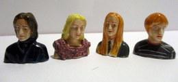 Fèves Brillantes X 4 -   Buste Des Personnages D'Harry Potter - (s11)  Editions Albert René - MS Studio - Comics