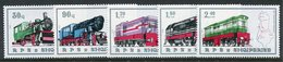ALBANIA 1989 Railway Locomotives MNH / **.  Michel 2383-87 - Albania