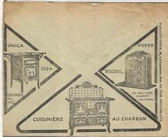 BELGICA CC CHEQUES POSTALES CON PUBLICIDAD 1927 COCINAS A GAS CARBON COAL FURNACE - Alimentation