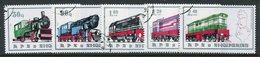 ALBANIA 1989 Railway Locomotives Used.  Michel 2383-87 - Albanie