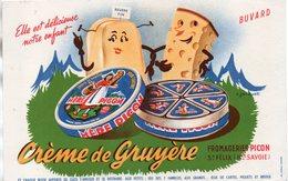 BUVARD - CREME DE GRUYERE - FROMAGERIES PICON - - Alimentaire