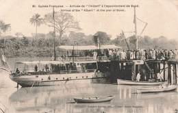 Guinée Française Arrivée Albert Appontement Boké Bateau - Guinée Française