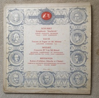 Disque Vinyle 33 T 1/3 SCHUBERT BACH MOZART BEETHOVEN Guilde International Disque 33 Tours 25cm - Formats Spéciaux