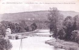 29 - Finistere -  CHATEAUNEUF Du FAOU - Canal De Nantes A Brest - Dominant Le Canal Le Chateau De Trevarez- Ecluse - Châteauneuf-du-Faou