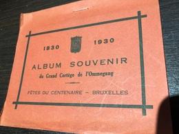 Album Souvenir Du Grand Cortège De L'Ommegang Fetes Du Centenaire Bruxelles 1830-1930 12 Cartes Barry 3932 - Fêtes, événements