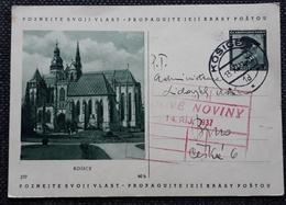 Bildpostkarte 1937, KOSICE Gelaufen - Czechoslovakia