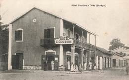 Sénégal Afrique Occidentale Hotel E. Coudine à Thies Cpa Carte Animée - Senegal