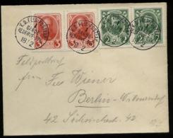 S6364 - DR WW I Mit Russland Briefmarken Auf Militär Feldpost Briefumschlag: Gebraucht Feldpost - Berlin 1917 , Bedarf - Brieven En Documenten
