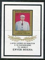 ALBANIA 1985 Death Of Hoxha Block MNH / **.  Michel Block 84 - Albania