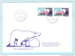 NORWEGEN (Brief Cover Lettre) 1128 (Paar) Schiffe Linie Hurtigruten - ST: Alesund 27.07.94   (32824) FFF - Norwegen