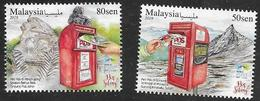 MALAYSIA, 2019, MNH, MOUNTAINS, POST BOXES ON HIGHEST MOUNTAINS, 2v - Other