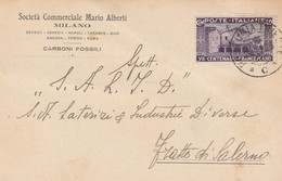 Postumia. 1926. Annullo Ambulante POSTUMIA - TRIESTE C, Su Cartolina Pubblicitaria, Affrancata Con VII Francescano C. 40 - 1900-44 Victor Emmanuel III.
