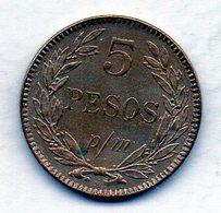 COLOMBIA, 5 Pesos 1912-H, P/M, Copper-Nickel, KM #279 - Colombia