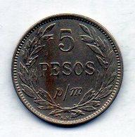COLOMBIA, 5 Pesos 1907, P/M, Copper-Nickel, KM #279 - Colombia