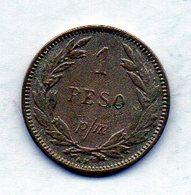 COLOMBIA, 1 Peso 1907, P/M, Copper-Nickel, KM #A279 - Colombia