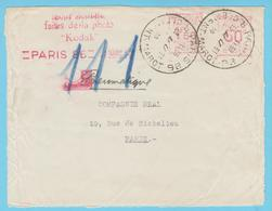 J.P.S. -  France - EMA Kodak Sur Lettre Circulée En Poste Pneumatique - Rue Clément Marot - Photographie