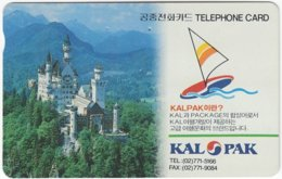 SOUTH KOREA A-881 Magnetic Telecom - Landmark, Neuschwanstein, Bavaria - Used - Corea Del Sur