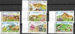 MONGOLIA, 2019, MNH, LANDSCAPES,  BIRDS,  BIRDS OF PREY, FISH, FELINES, BEARS, CAMELS, MOUNTAINS, 7v - Aigles & Rapaces Diurnes