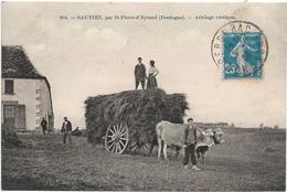 24 : Dordogne : Sautier ( Par Saint Pierre D ' Eyraud )  : Attelage Rustique . - Altri Comuni