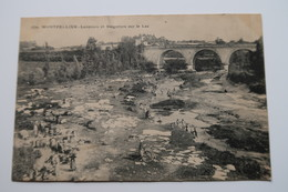 CPA Animée - MONTPELLIER (34) - Laveuses Et Baigneurs Sur Le Lez - 1907 - Montpellier