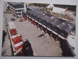 CPM CPSM CP MANCHE 50 CHERBOURG CENTRE DE SECOURS SAPEURS-POMPIERS VÉHICULES 1999 TRÈS BON ETAT - Feuerwehr
