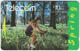 NEW ZEALAND A-820 Magnetic Telecom - Four Seasons, Spring, Leisure, Cycling - 231CO - Used - Nuova Zelanda