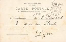 Poste Maritime Cachet Octogonal Maritime Ligne La Reunion à Marseille 1905 N°3 + Timbre Cote Française Des Somalis - Marcofilie (Brieven)
