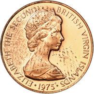 Monnaie, BRITISH VIRGIN ISLANDS, Elizabeth II, Cent, 1975, Franklin Mint - Iles Vièrges Britanniques